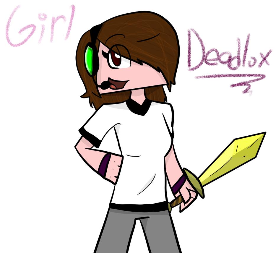 Deadlox Minecraft Skin Girl Deadlox by TheSilverPie