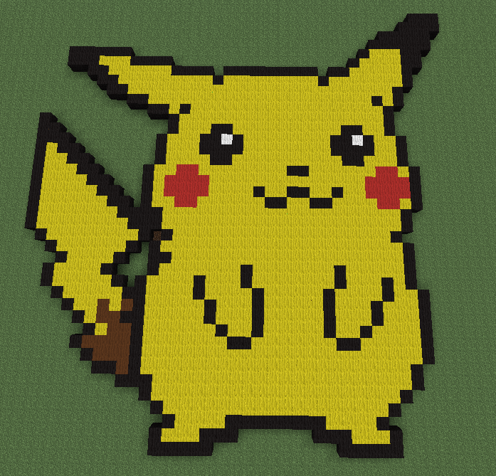 Minecraft Pixel Art Pikachu Gallery Of Arts And Crafts
