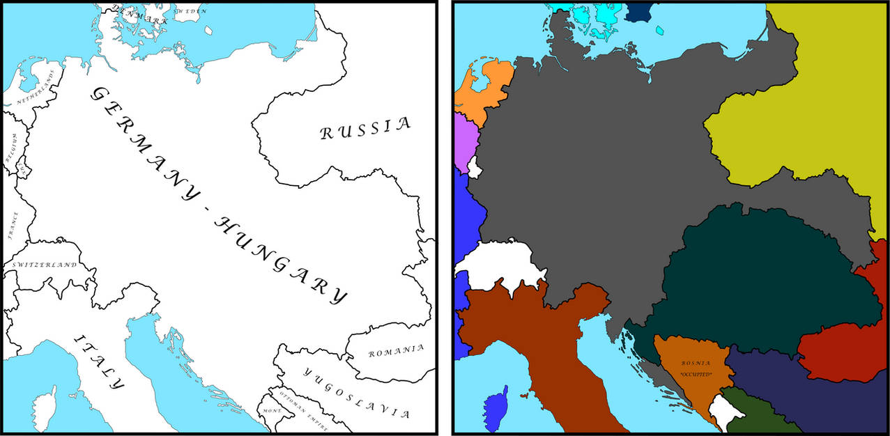 Map Of Germany And Hungary.German Hungarian Empire By Theplainsman On Deviantart