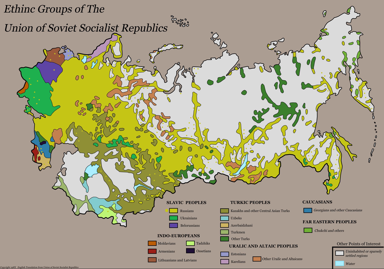 USSR Ethnicity Map by ThePlainsman on DeviantArt