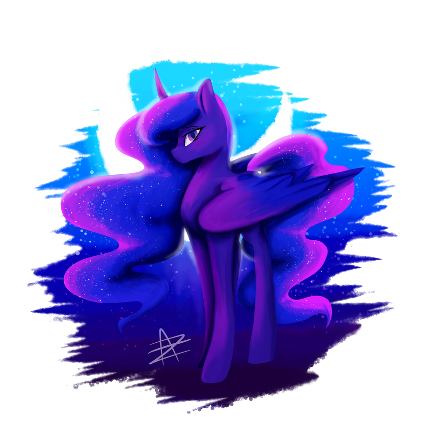 Princess Luna by AuraZandra