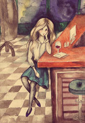Alone at bar by Airech