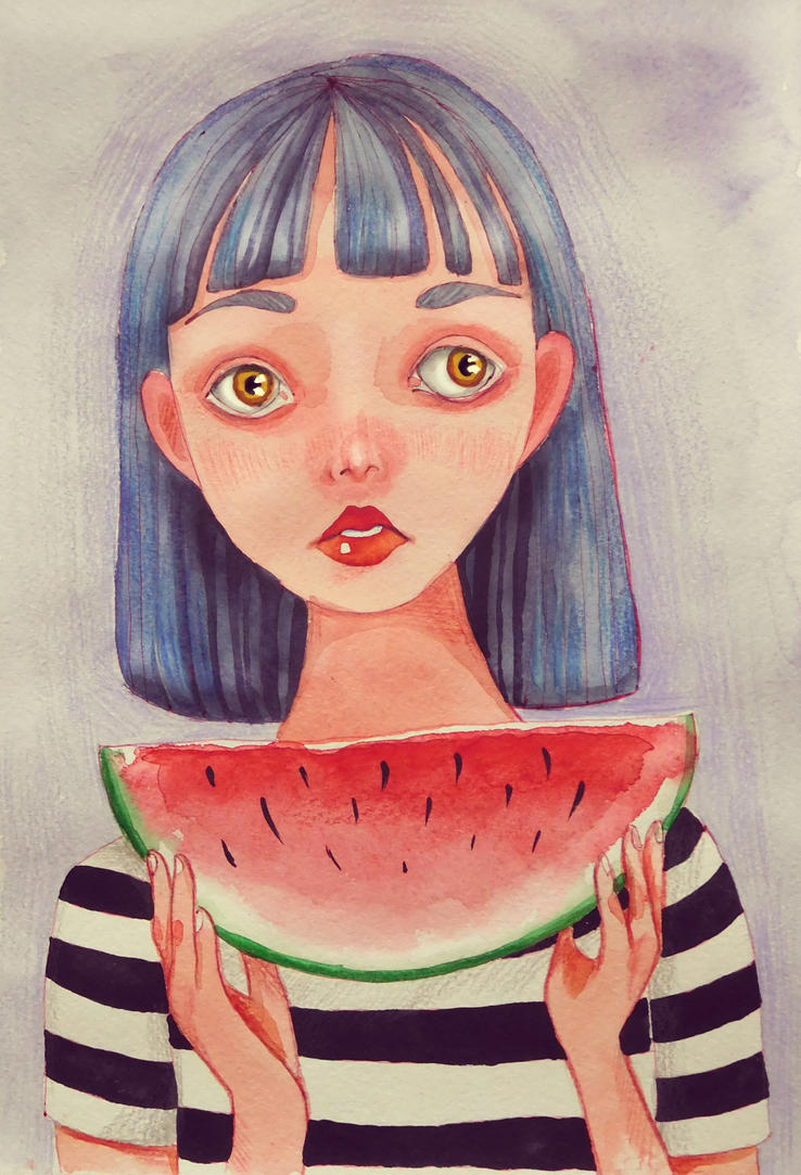 Watermelon Girl by Airech
