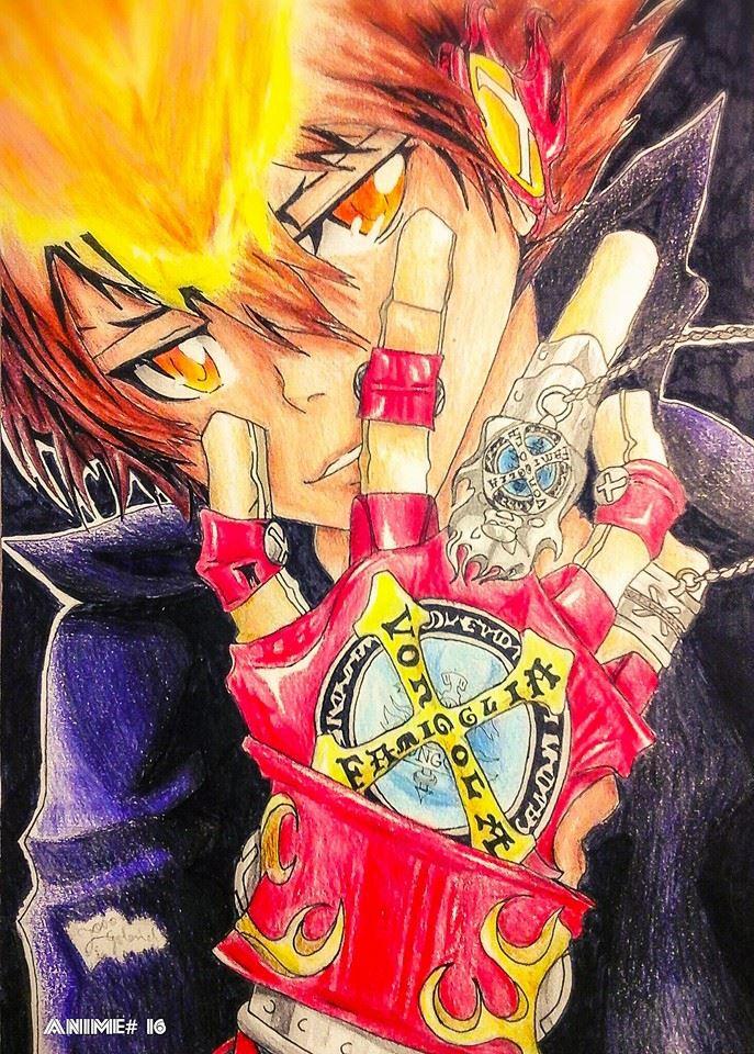 Tsuna Katekyo Hitman Reborn Drawing Anime 16 By Um Dragao
