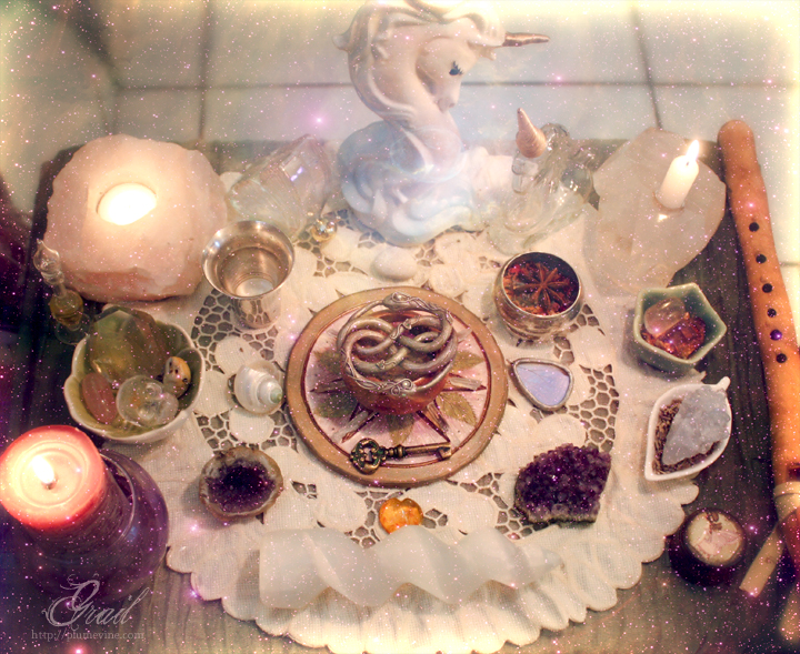 Faery Altar by GrailSidhe