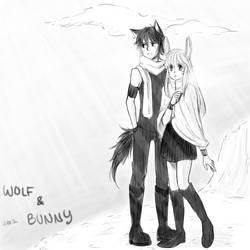 Wolf n Bunny - random by DumplingzOwO