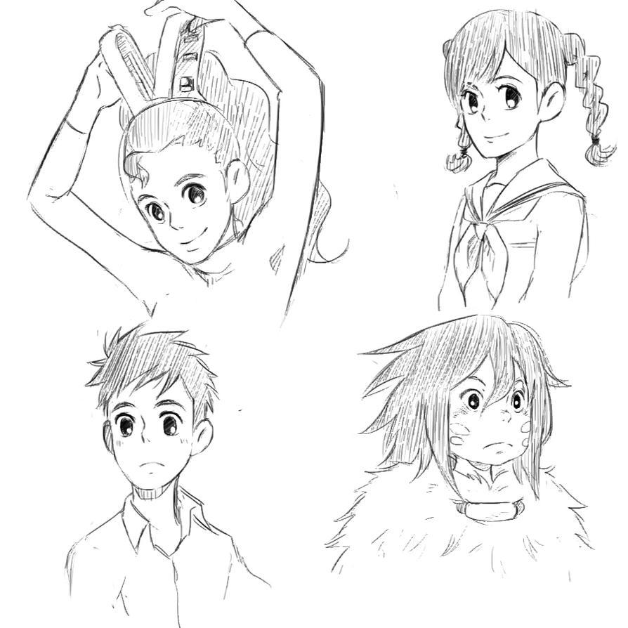 Studio Ghibli random sketches by DumplingzOwO on DeviantArt