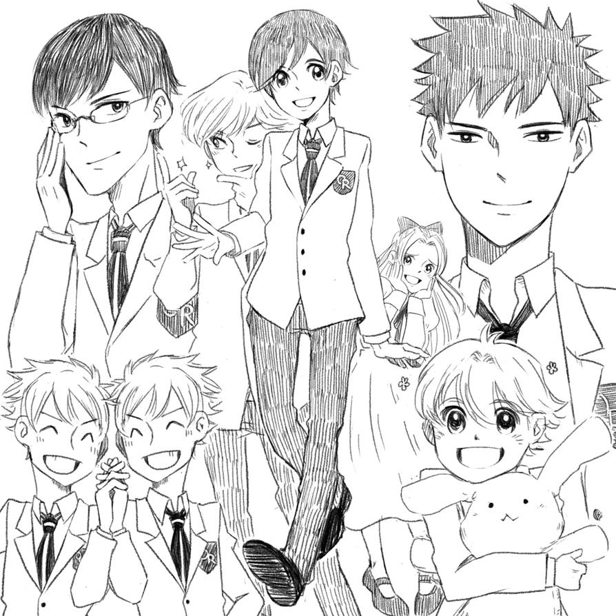 Coloring pages high school - Ouran High School Host Club I Miss You Gaiz By Dumplingzowo