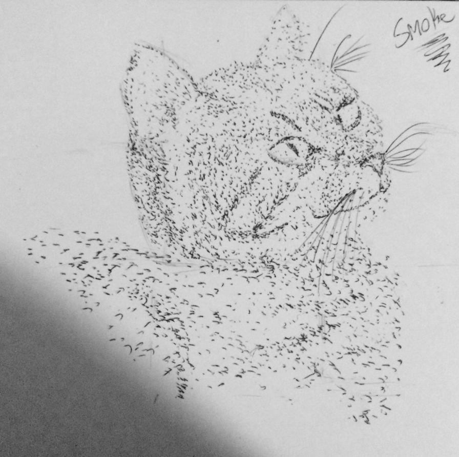 Kitty dot art by bpcampbell