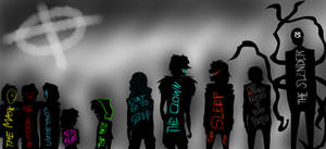 The Creepypasta Quick Shadow Sketch. by MikaelBratLoni