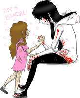 Jeff The Killer and Sally: Jeff is beautiful. by MikaelBratLoni
