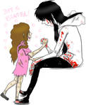 Jeff The Killer and Sally: Jeff is beautiful.