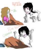 Jeff The Killer and Sally-Scary stories. by MikaelBratLoni