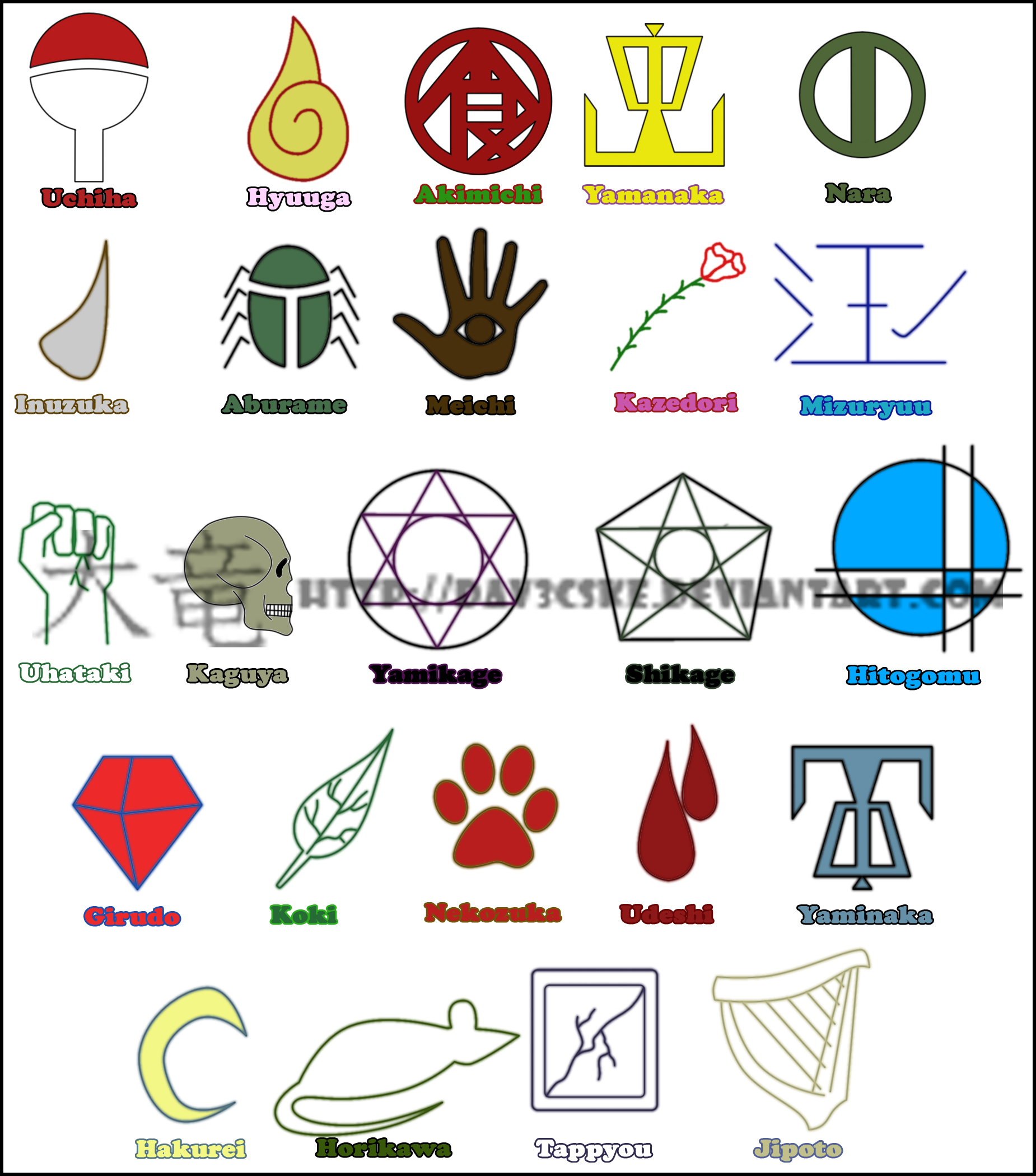 Clan Symbols By Dav3cske