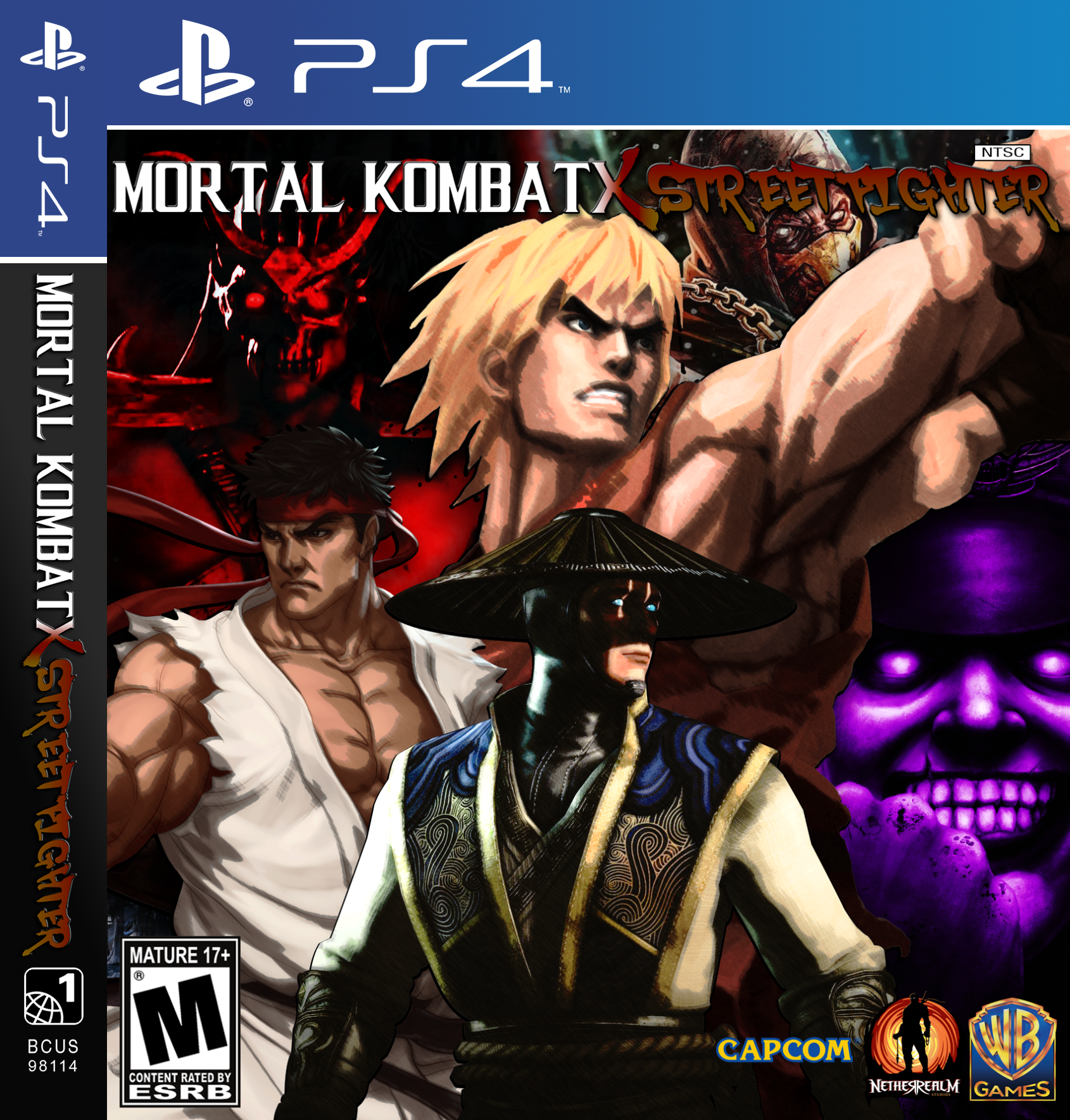 Mortal Kombat X Street Fighter Ps4 Cover By Xxkyrarosalesxx On