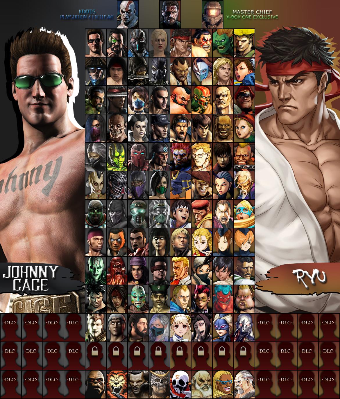 Mortal Kombat X Street Fighter Roster I Iii By Xxkyrarosalesxx