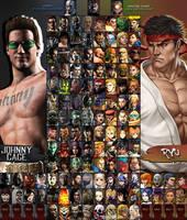 Mortal Kombat X Street Fighter Roster (I-VI) by xXKyraRosalesXx