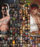 Mortal Kombat X Street Fighter Roster (I-VII) by xXKyraRosalesXx