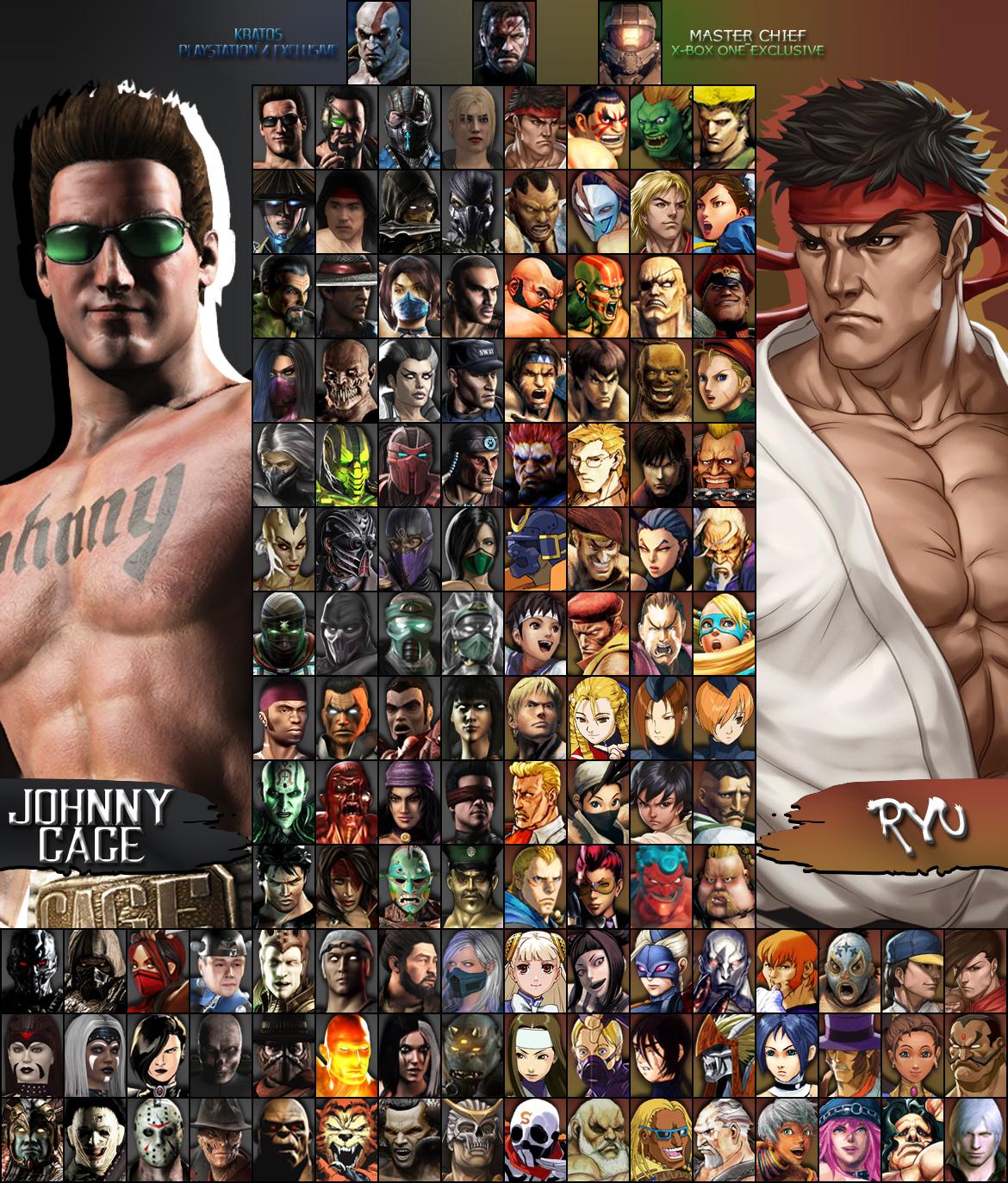 Mortal Kombat X Street Fighter Roster I Vii By Xxkyrarosalesxx