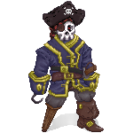 Commission: Pixel Pirate by Cassaa