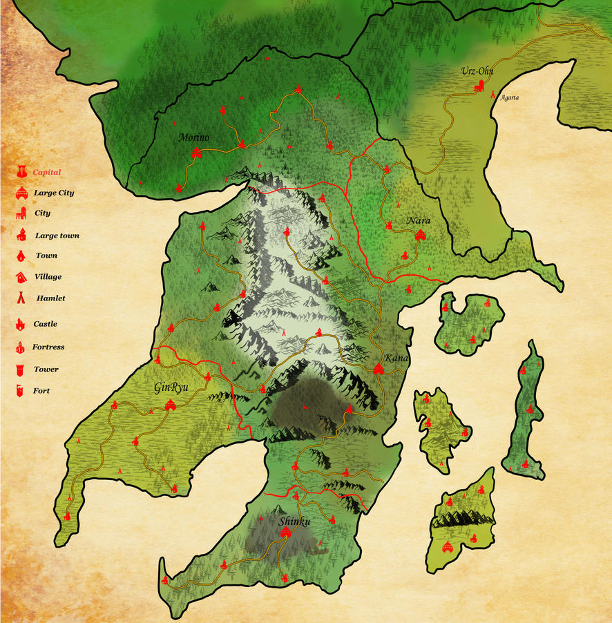 Human map with all villages and towns by Queen-FenrisUlfr