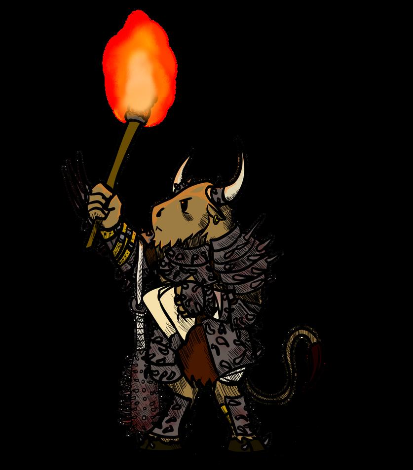 Little Classes: Minotaur BattleRager by Queen-FenrisUlfr