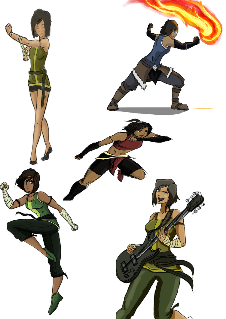 avatar korra sketches by gregbubbles on deviantart