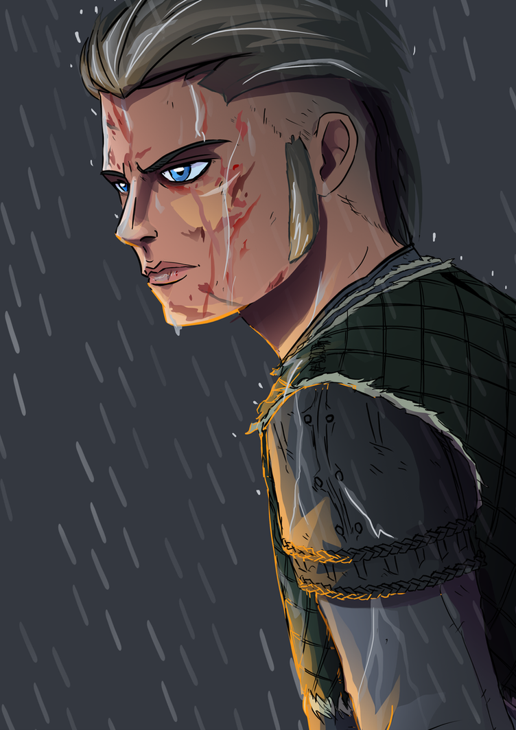 Vikings Ivar the Boneless quick drawing by GregBubbles