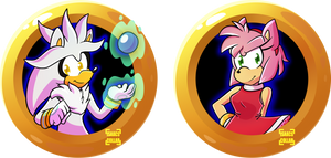 Silver and Amy Badge Set