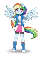 Rainbow Dash in Equestria Girls by Pillonchou