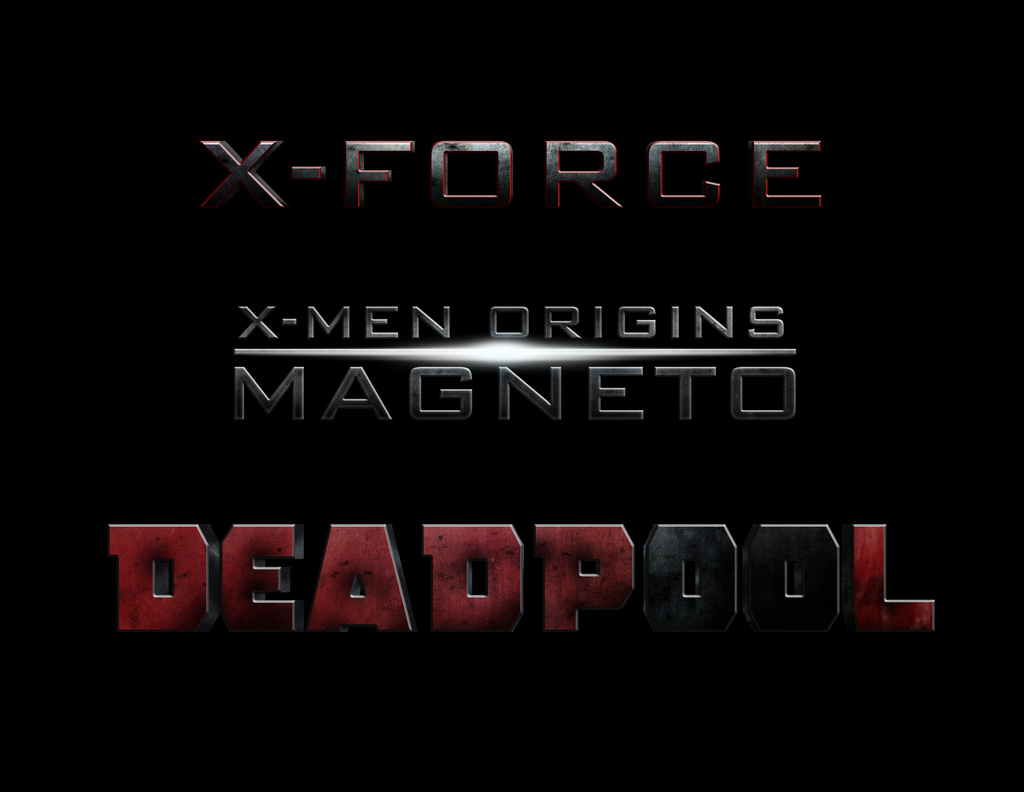 X-Men: MAGNETO - DEADPOOL - X-FORCE : LOGO