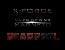X-Men: MAGNETO - DEADPOOL - X-FORCE : LOGO by MrSteiners