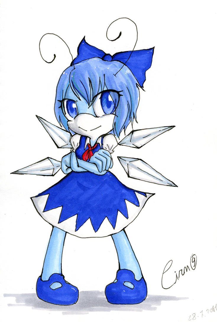 Sonic style Cirno by Carn-the-Wolf