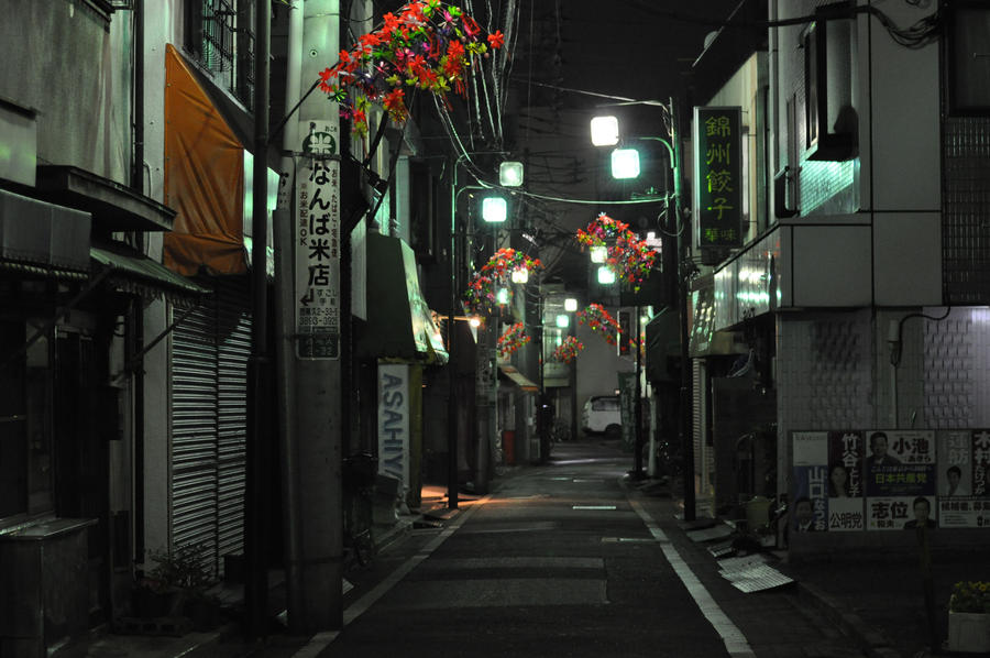 Empty Street In Tokyo By Coffeeaddict2011