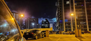 Dallas rooftop parking at Night