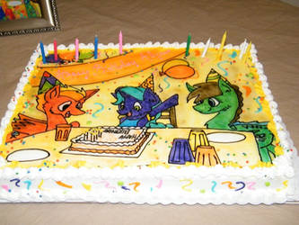 Happy Birthday MLP Cake by Lonerli