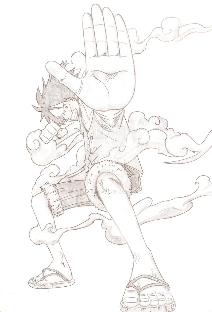 How To Draw Kid Luffy