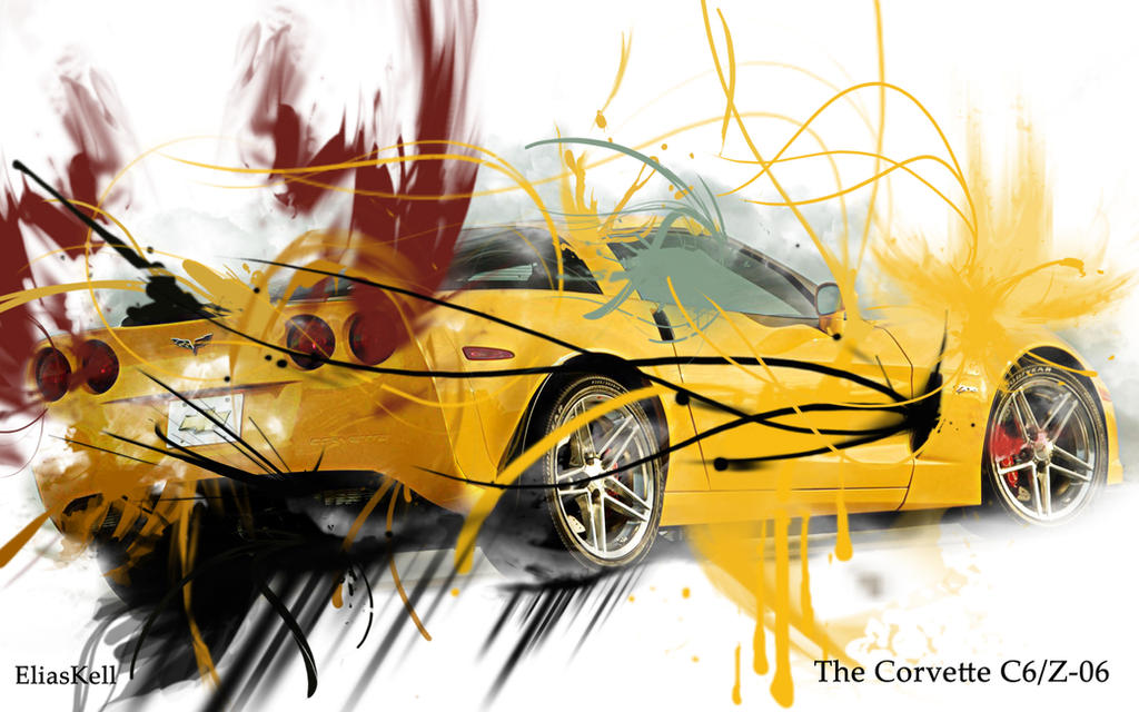 c6 vette wallpaper. Corvette C6-Z06 Wallpaper by ~EliasKell on deviantART