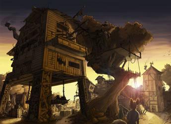 Village Sunset by Cryspan