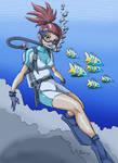 Digimon - Rika Scuba - Color