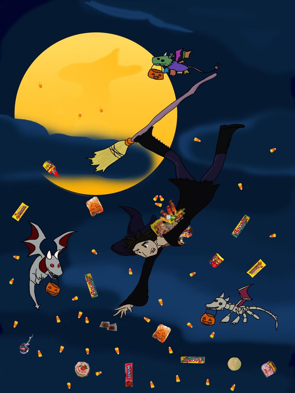 halloweenDoodle by kirehashi