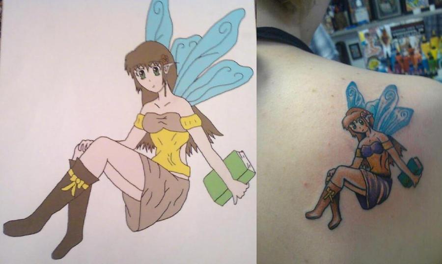Anime Fairy Tattoo by ~Fangs-of-an-Angel on deviantART