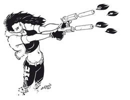Chick with guns by DerekLaufman
