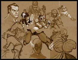Random Sketches by DerekLaufman