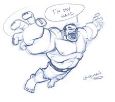 LIVESTREAM -20 min Hulk Sketch by DerekLaufman