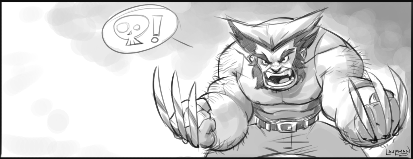WOLVERINE - Warm up sketch by DerekLaufman