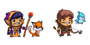 Character Concepts - Treasure Quest FB game