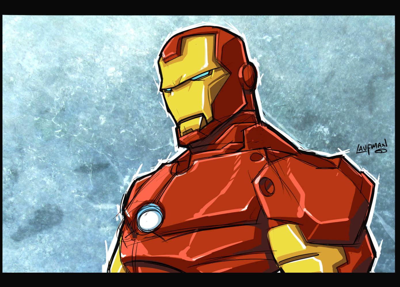 Iron Man Sketch by DerekLaufman