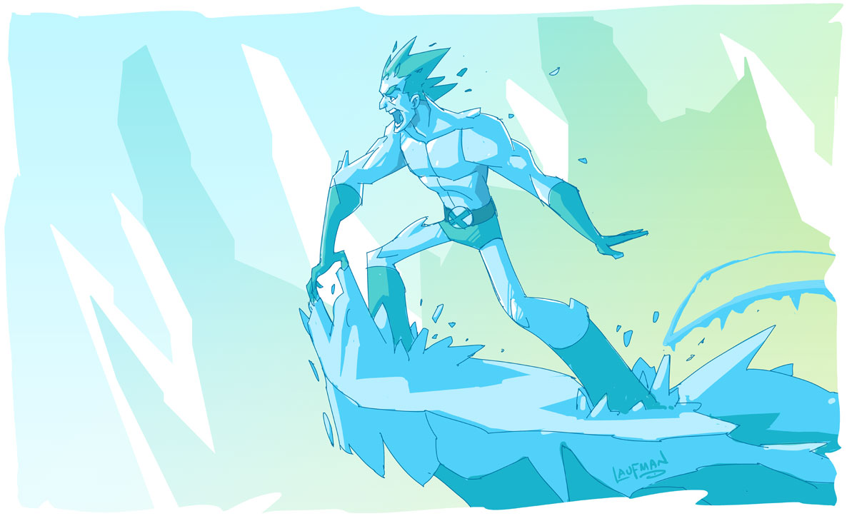 Warm up sketch - Iceman by DerekLaufman