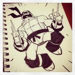 Raph ink sketch by DerekLaufman